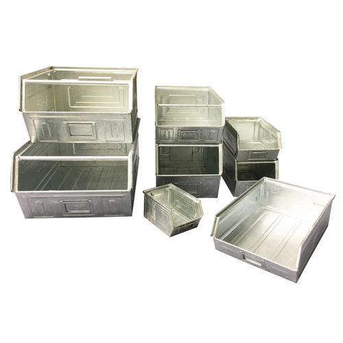 Contenitore a becco metallico - Modello zincato - Lunghezza da 160 a 350 mm