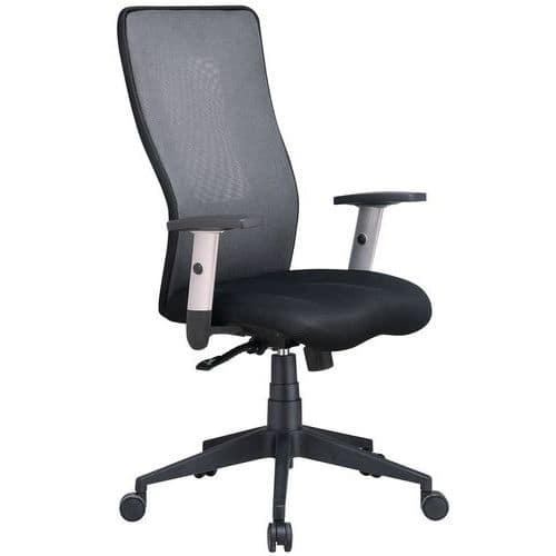 Sedia da ufficio con schienale alto Penelope - In tessuto - Manutan ...