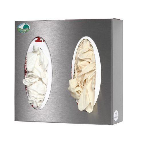 Supporto a parete inox per dispenser di fazzoletti/guanti - Inox