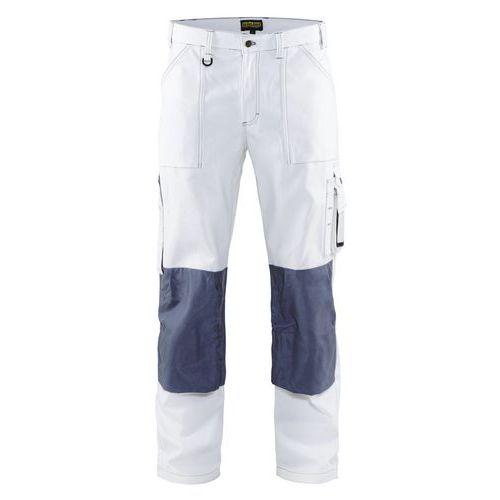 Pantaloni con piega Bianco