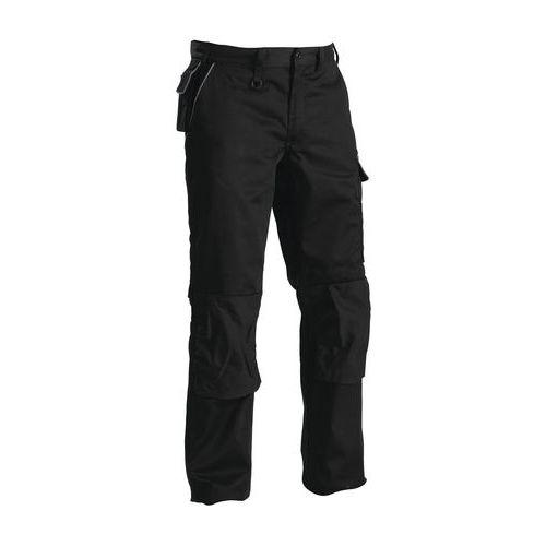 Pantaloni con piega Nero/Grigio