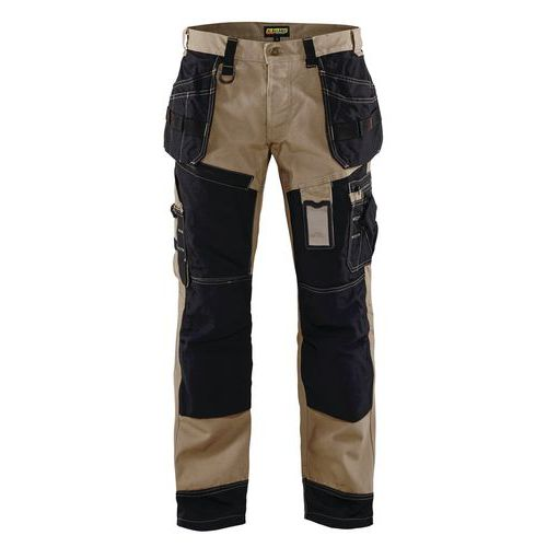Pantaloni per artigianato X1500 Blu acciaio/Nero