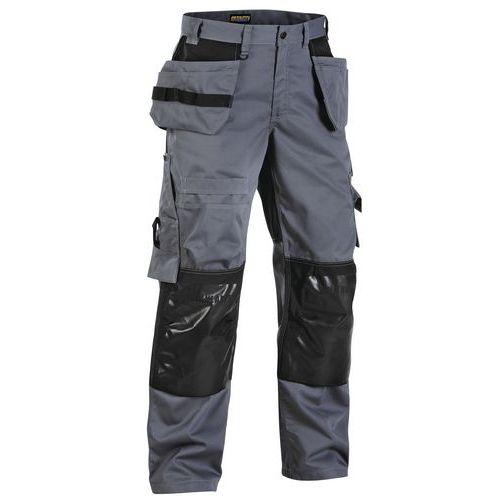 Pantaloni con tasche flottanti Grigio/Nero