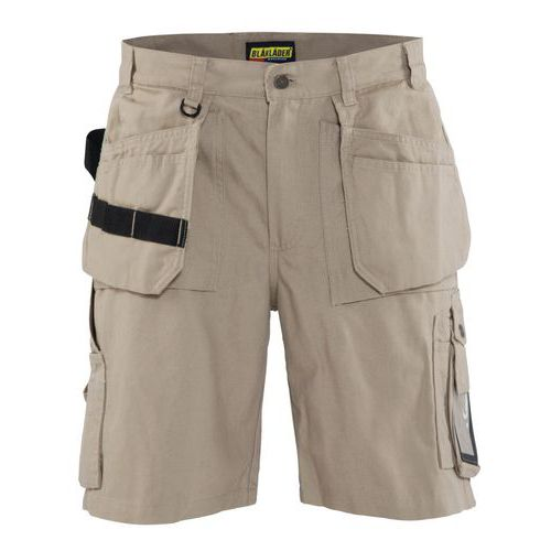 Pantaloni corti artigianato con Tasche Flottanti Antique khaki