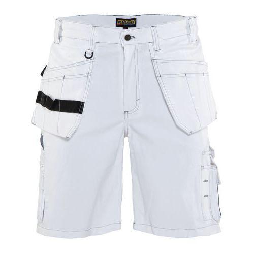 Pantaloni corti con tasche flottanti Bianco