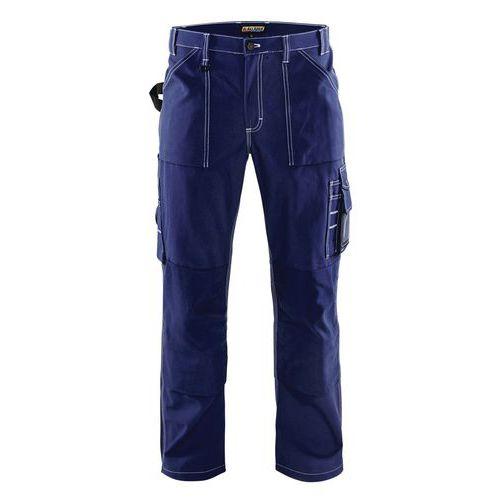Pantaloni con le Pince Blu fiordaliso