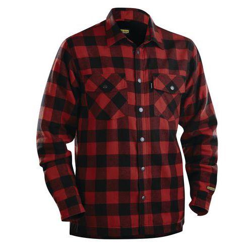 Camicia in flanella foderata Rosso/Nero
