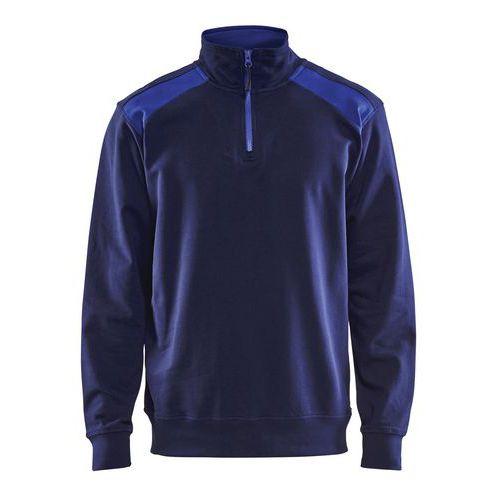 Half-zip 2-tone  Blu marino/Blu fiordaliso