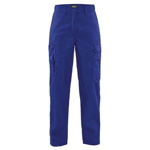 Pantaloni con Piega per donna Blu fiordaliso