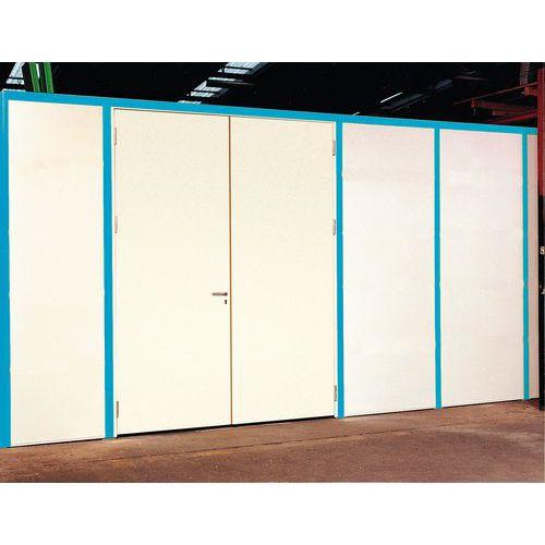 Disimpegno per porte scorrevoli con parete in melamminico - Altezza 2,51 m