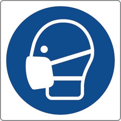 Cartello di obbligo - è obbligatorio indossare la maschera