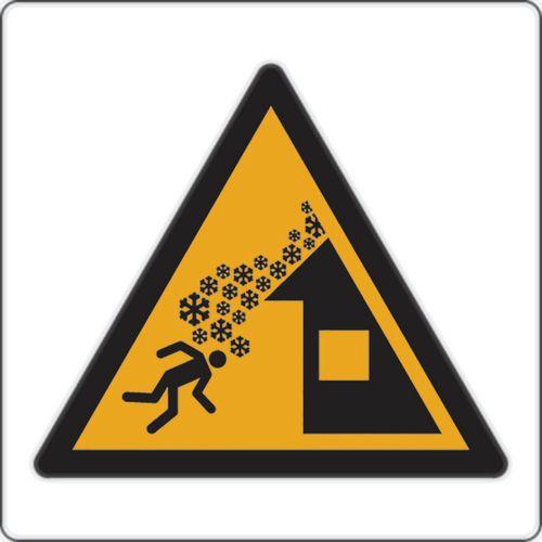 Cartello di pericolo -Caduta neve dal tetto - Alluminio