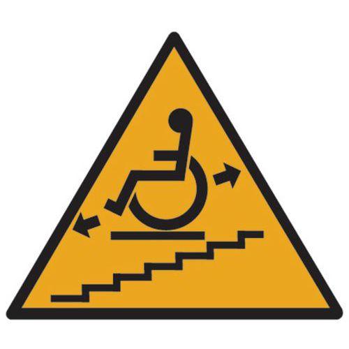 Cartello di pericolo - Montascale in movimento - Alluminio