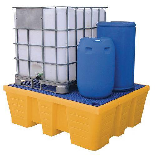 Pallet di ritenzione - Capacità di raccolta da 1000 a 1200 litri