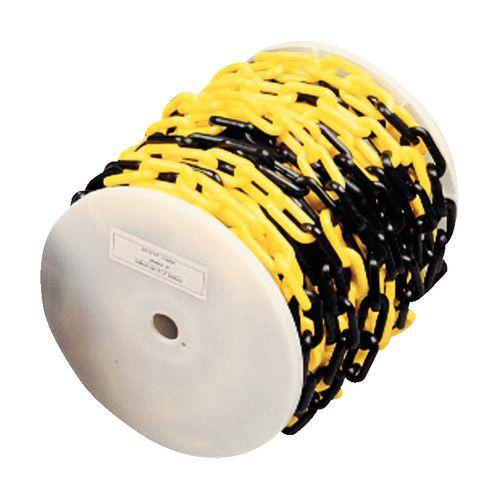 Catena in plastica in bobina - Nero/giallo