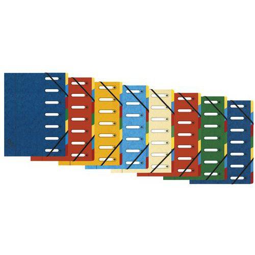 Cartellina con 7 divisori per classificazione - Colori assortiti - Lotto da 8 pezzi