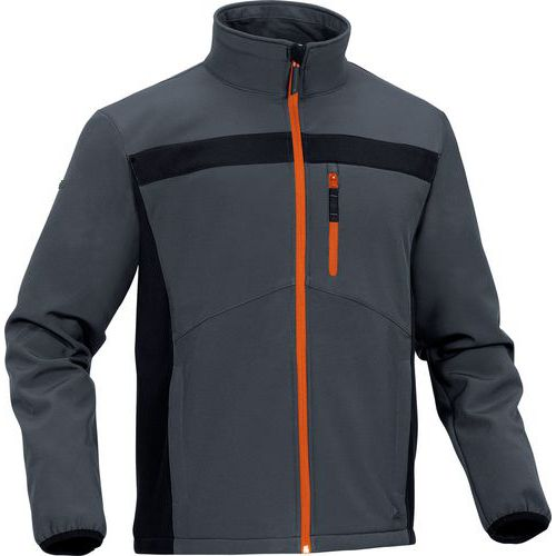 Giacca in softshell poliestere/elastano
