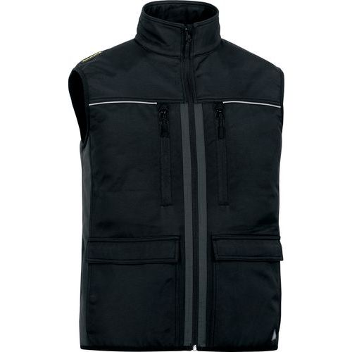 Gilet in softshell poliammide/poliestere