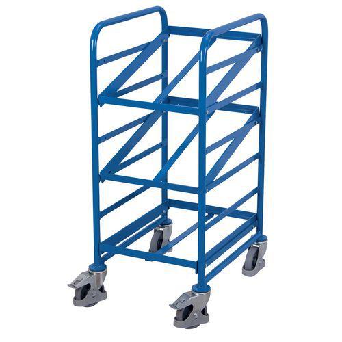 Carrello in acciaio portacontenitori a norma europea - Capacità 200 kg