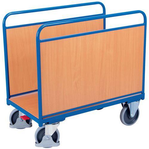 Carrello ergonomico a 2 sponde in legno - Capacità 500 kg