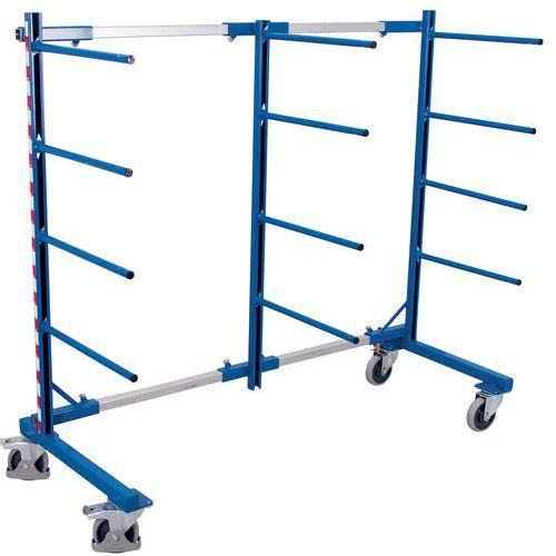 Carrello rastrelliera monofronte - Capacità 400 kg