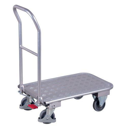 Carrello ergonomico in alluminio - Sponda ribaltabile - Portata 150 kg