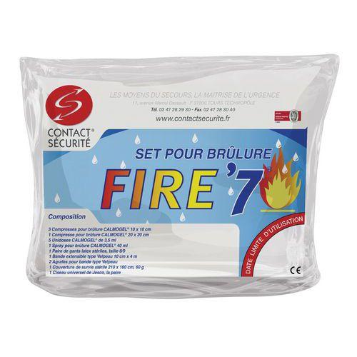 Kit di pronto soccorso per il trattamento delle bruciature