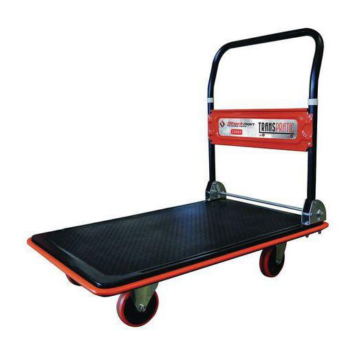 Carrello in acciaio con sponda ribaltabile - Portata 150 e 300 kg