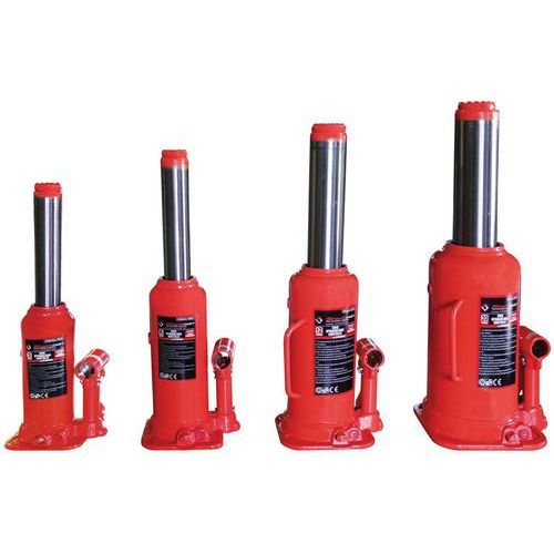 Cric idraulico a bottiglia, cilindro singolo - Portata da 3 a 32 tonnellate