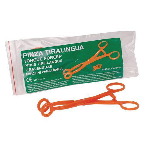 Pinza tiralingua in policarbonato