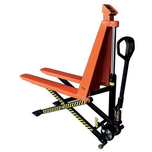 Transpallet manuale a grande alzata con sistema di pesatura - Portata 1000 kg