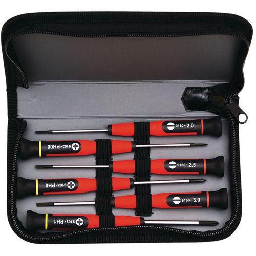 Kit di cacciaviti di precisione - 6 cacciaviti micro
