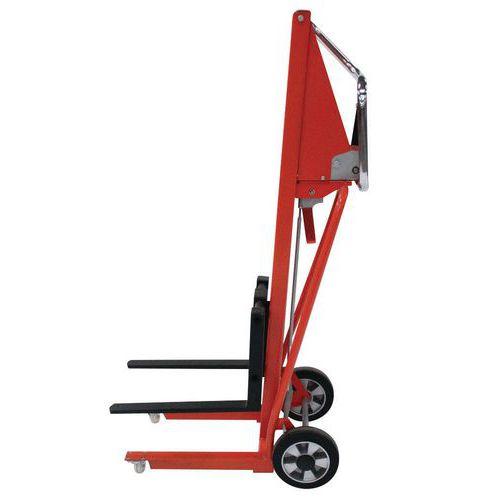 Carrello elevatore mini manuale - Forca lunghezza 50 mm - Capacità 120 kg
