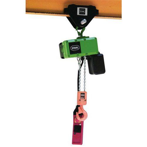 Paranco elettrico su carrello porta-paranco manuale - Portata da 125 a 500 kg - Stahl CraneSystems
