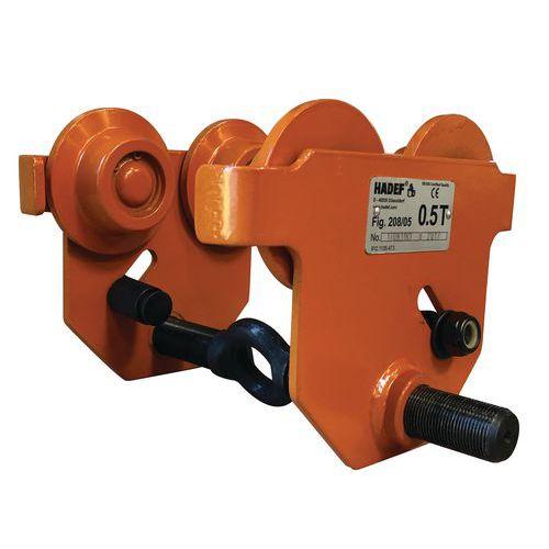 Carrello porta-paranco manuale - Portata da 500 a 1600 kg