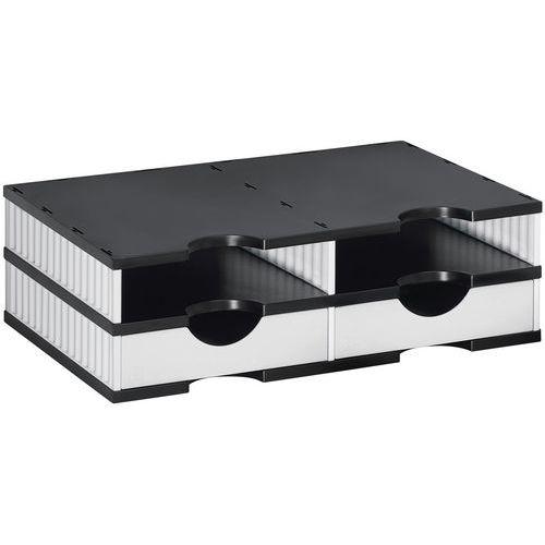 Sistema di stoccaggio a cassetti modulari Styrodoc Duo Set