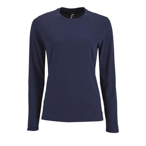 T-shirt da lavoro donna girocollo Imperial Women - Maniche lunghe