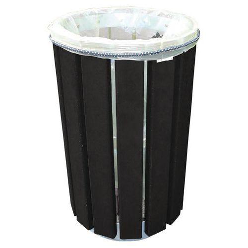 Pattumiera Escapade Eco rotonda - Fissaggio del sacco tramite laccetto elastico - 90 L