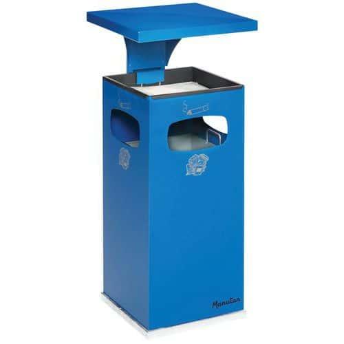 Posacenere-cestino per uso in interni ed esterni 38 L - Manutan