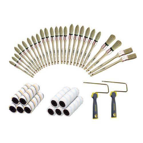 Assortimento di rulli e pennelli professionali