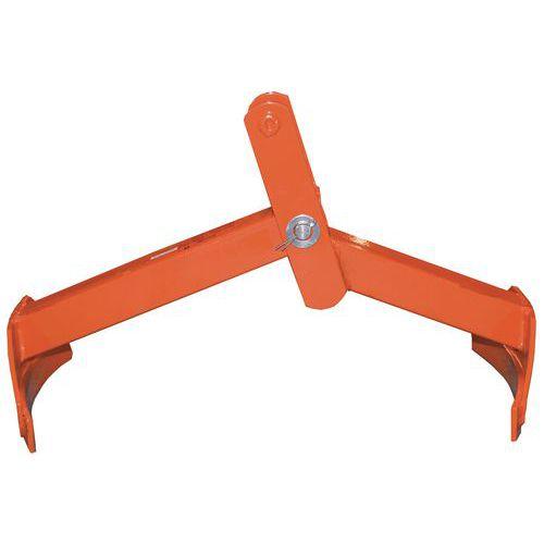 Pinza per fusti verticale e orizzontale a 2 bracci - Portata 350 kg