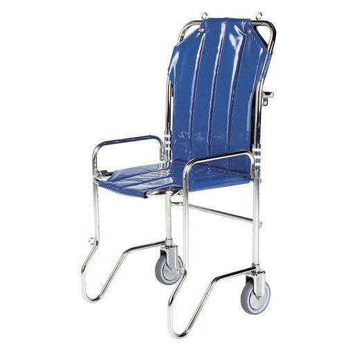 Sedia a rotelle ripiegabile blu