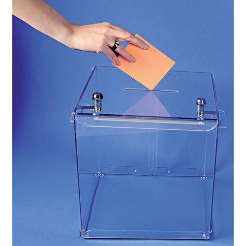 Urna elettorale trasparente - 600 schede
