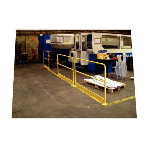 Barriera di protezione con zoccolo - Giallo RAL 1023