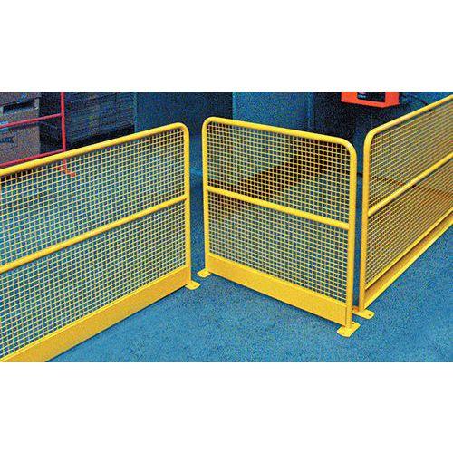 Barriera di protezione a rete con zoccolo - Giallo RAL 1023