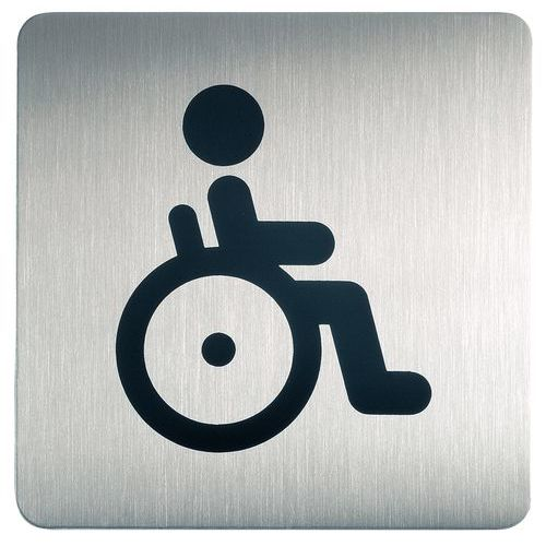 Pittogramma quadrato per toilette - Disabili