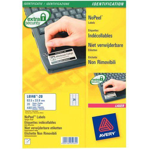Etichetta non rimovibile - Stampa laser