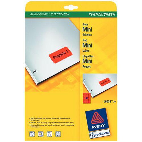 Etichetta colorata riposizionabile Avery - Per stampanti laser / a getto d'inchiostro e fotocopiatrici