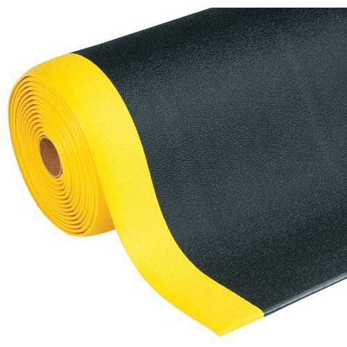Tappeto antifatica ergonomico - superficie granulosa - fornito in rotolo - Manutan