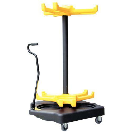Carrello per paletto con catena - PVC - Su rotelle
